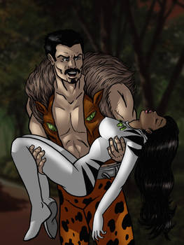 White Tiger Hunted by Kraven