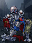Supergirl defeated by Brainiac