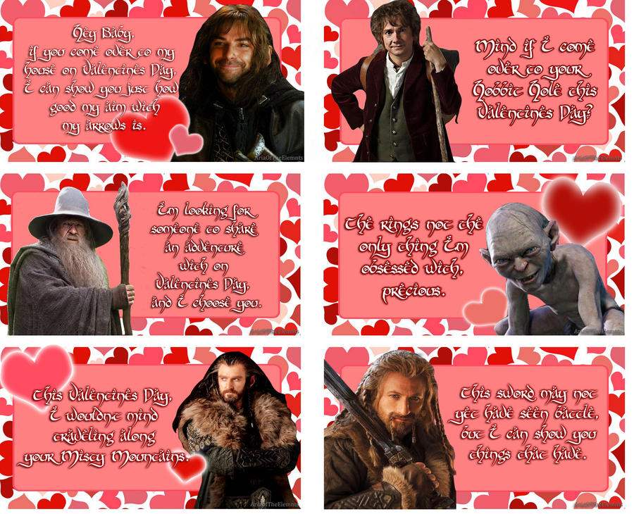 DeviantArt: More Like Hobbit Valentines Cards by AnimeGirl10129