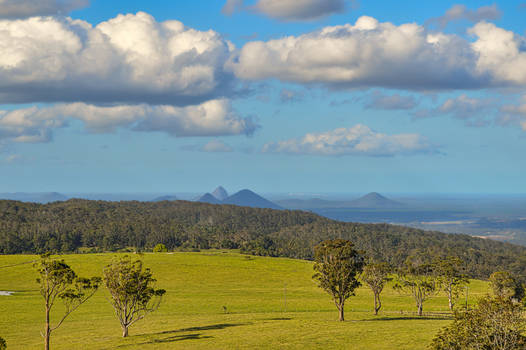 Looking to the Glasshouse Mountains