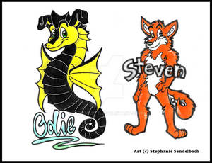 Odie Seahorse and Steven Badges