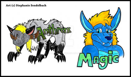Anthrax Magic Badges