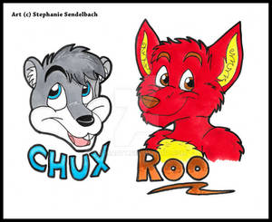 Chux and Roo Badges