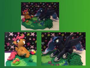 Luna and scootaloo sculpture