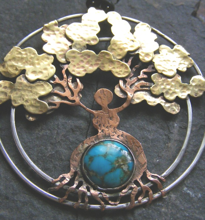Gaia Tree with Turquoise by MoonLitCreations