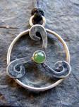 Jade Triskele Necklace