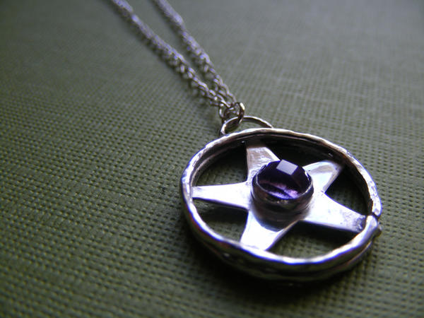 Amethyst Pentacle Necklace by MoonLitCreations