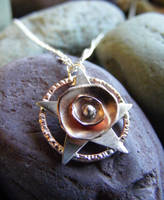 New Flower Pentacle Necklace by MoonLitCreations