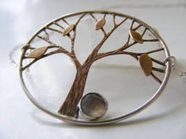 Fall Tree with Labradorite by MoonLitCreations