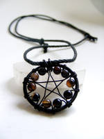 Black Agate Pentacle Necklace by MoonLitCreations