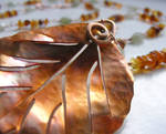 Autumn Leaf Necklace by MoonLitCreations