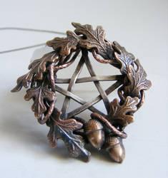Harvest Pentacle Necklace