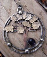 Amethyst Tree Necklace by MoonLitCreations