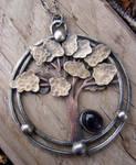 Amethyst Tree Necklace