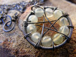 Jade Wire-Wrapped Pentacle