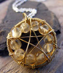 Citrine Wire-Wrapped Pentacle
