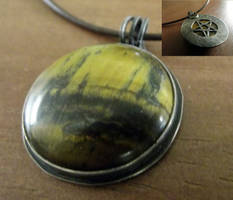 Tigers Eye Hidden Pentacle Necklace by MoonLitCreations