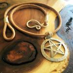 Stamped Pentagram Necklace
