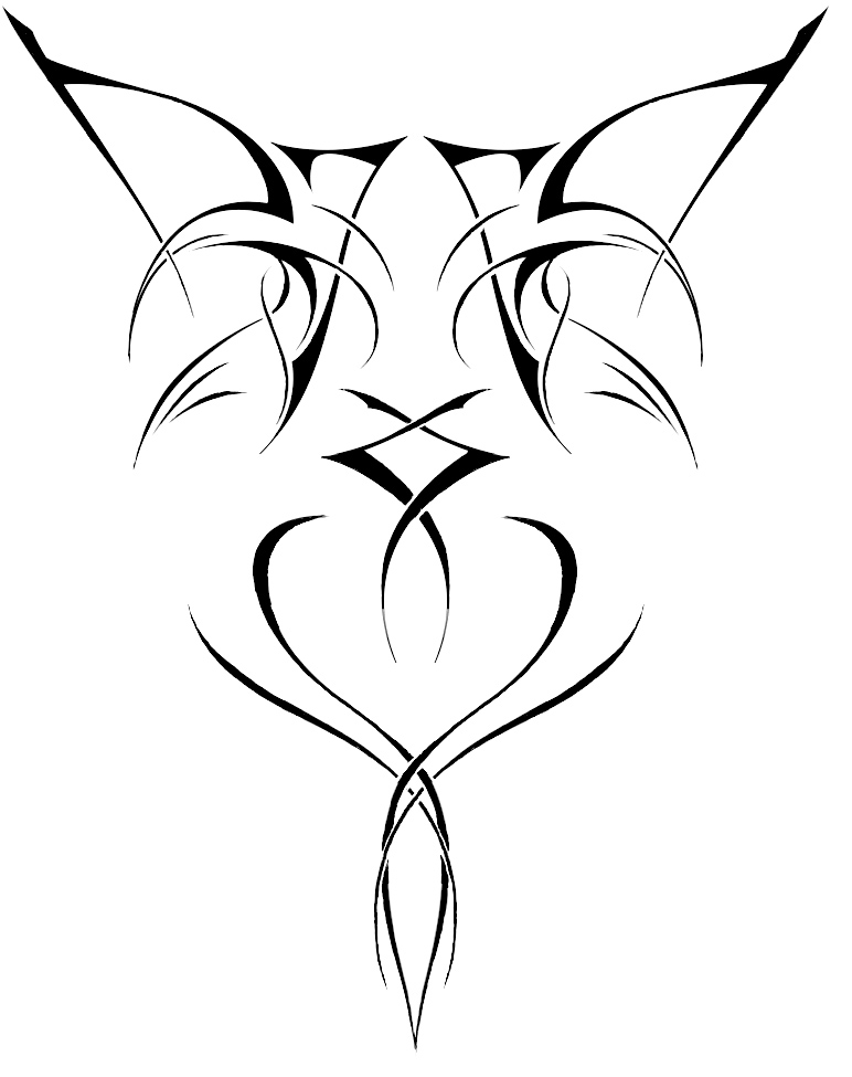 TRIBAL TATTOO WITH SMALL SKULL (left shoulder) Here is the design.