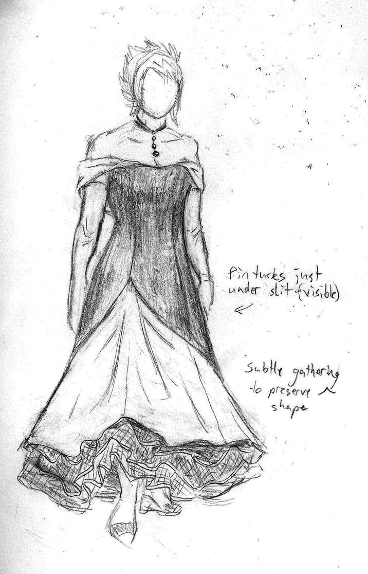 Prom Dress Sketch by GryphElyse on DeviantArt