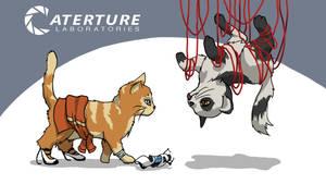 Wallpaper: Portal Kittens