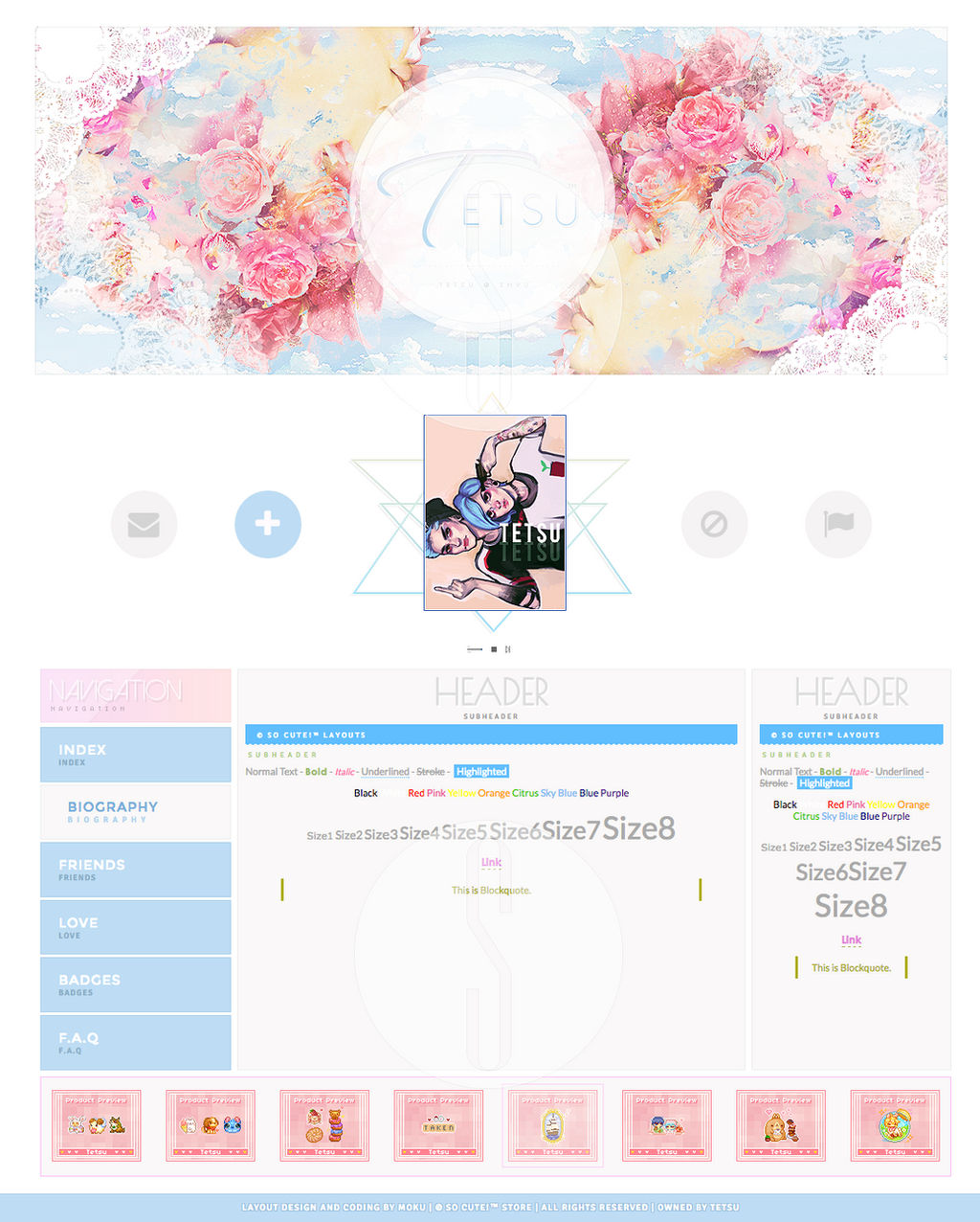 Custom Layout [Tetsu] - So Cute! Store v.3