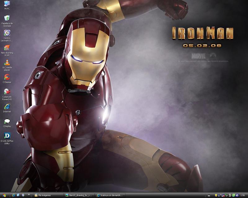 New Wallpaper - Ironman by Scatmya