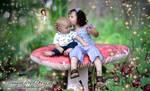 Brother Sister on a mushroom
