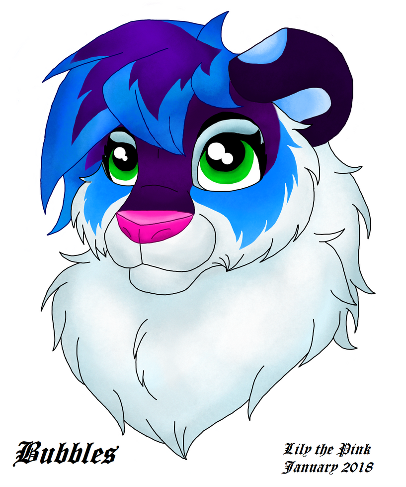 bubbles headshot no background by lily the pink on deviantart