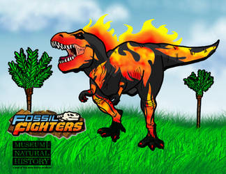 T Rex colouring page - Fossil fighters T-rex 2019 by Lily-the-pink