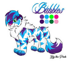 Bubbles color reference sheet April 2019