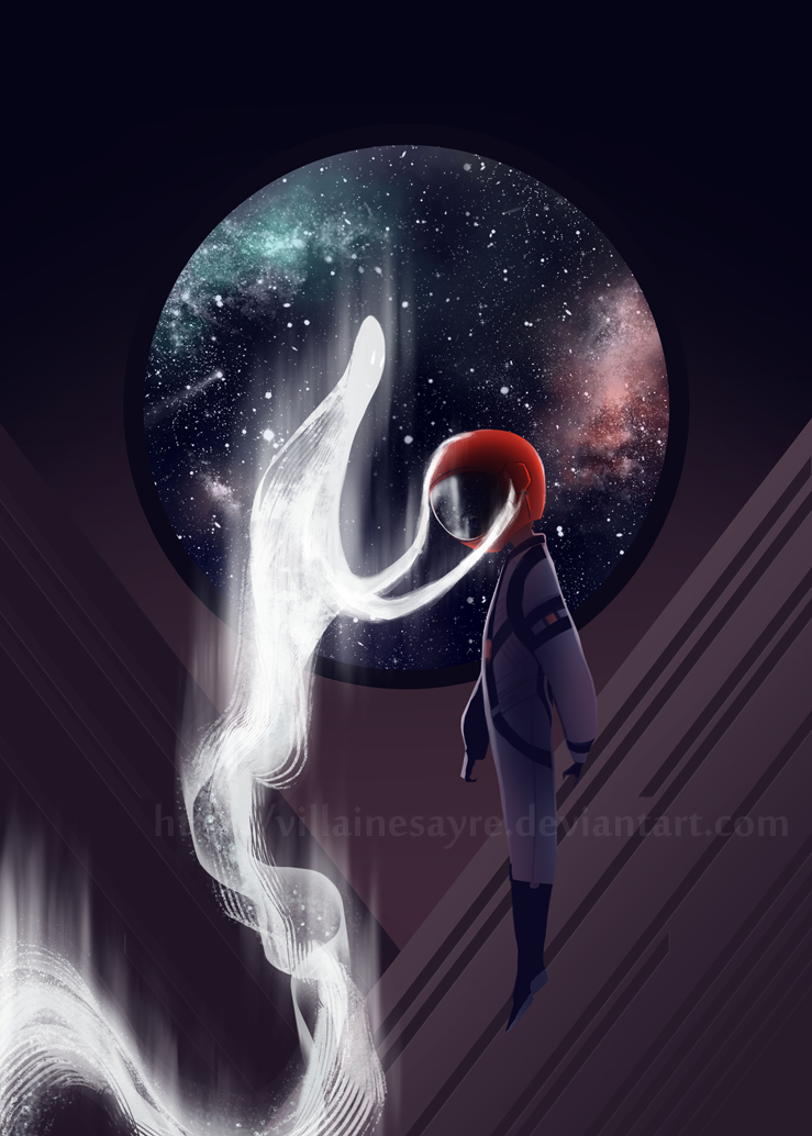 SPACE RED: 1 by villainesayre