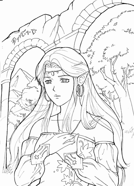 Elfic Princess Ayla by Cleph