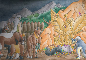 The Funeral of Death by Jalohauki