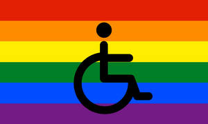 Disabled Gay Pride Flag