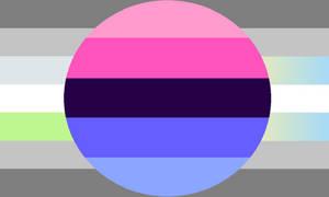 Omnisexual Demiagender Demifluid Combo Pride Flag