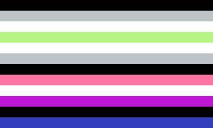 Agender Genderfluid Combo Pride Flag