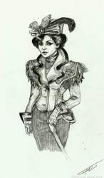 coat lady.