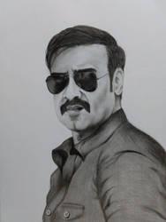 Ajay Devgan in Simmba by sketchkeepr6