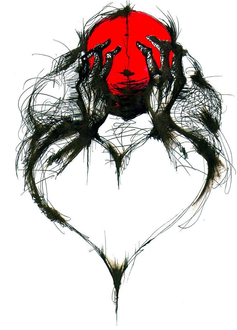 heart shaped heart by fistsofbloodandink