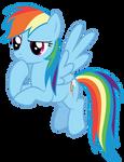 Rainbow Dash thinking