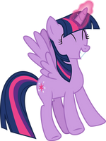Excited Twilight Sparkle by CloudySkie