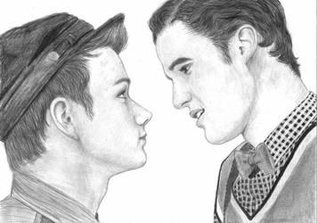 Kurt and Blaine - Glee by MajaGantzi