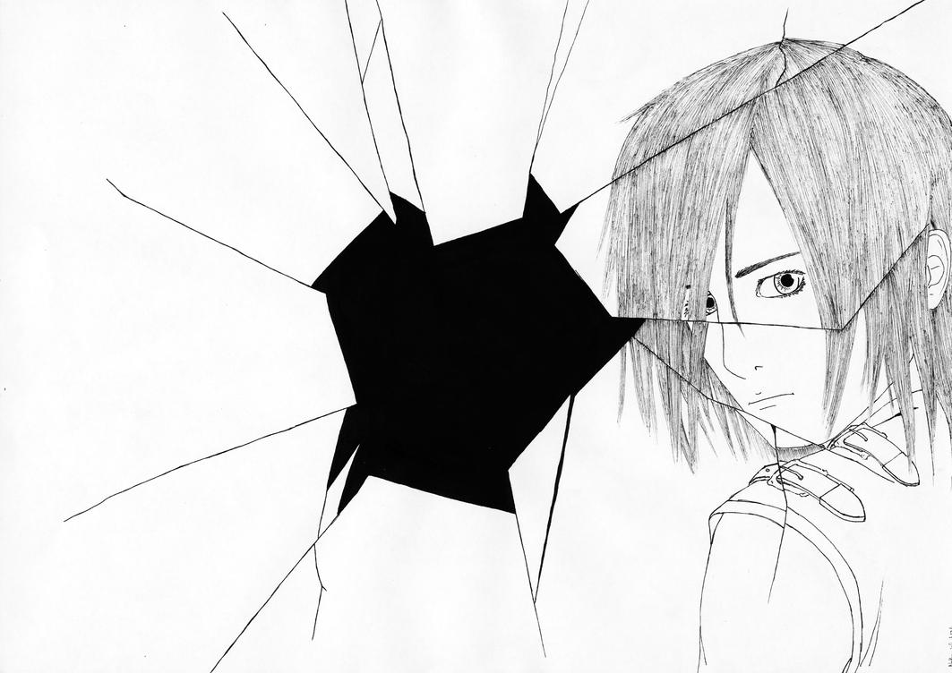 Cracked Glass Drawing