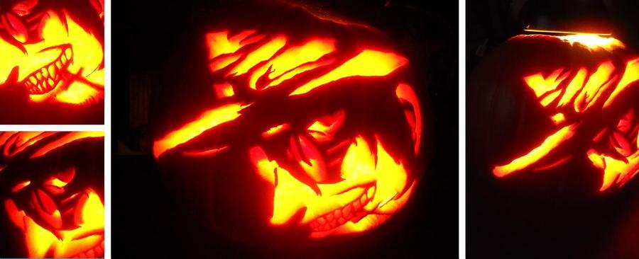 Alucard Jack-O-Lantern by TheGreenestRose