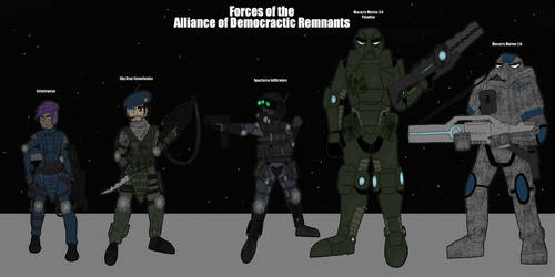 Forces of the Alliance of Democratic Remnants by TheReptilianGeneral