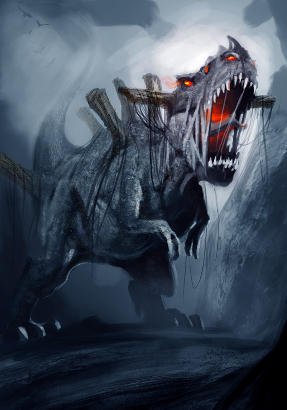 demon dinosaur Digital Art