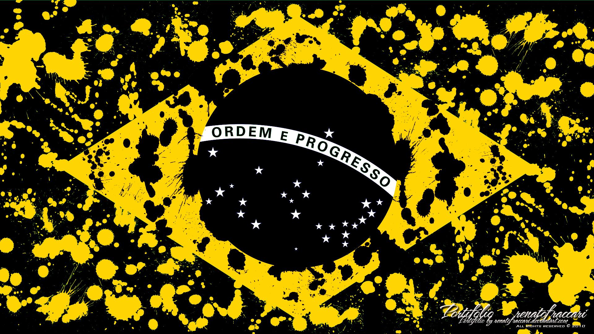 Brazil Dark Flag by renatofraccari