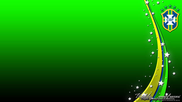 Brasil CBF Wallpaper Green