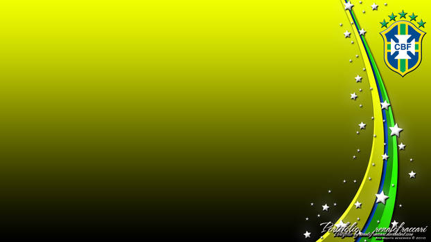 Brasil CBF Wallpaper Yellow